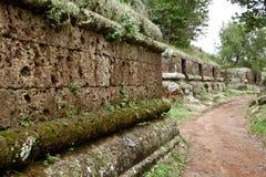 Nécropole d'Etruscan de Cerveteri Images libres de droits
