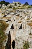 Nécropole de Sardinia.Punic à Cagliari Images stock