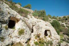 Nécropole rocheuse Image libre de droits