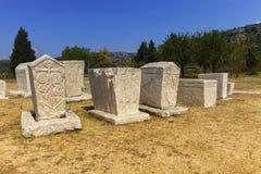 Nécropole, Stolac, la Bosnie et Hercegovina de Radimlja Photo stock