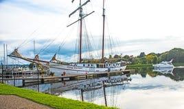 Néerlandais de vol à la marina de Muirtown Images stock