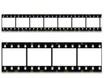 négatif sur film toujours noir de 35mm Photographie stock