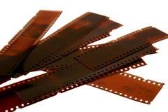 Négatifs d'isolement de 35mm Image stock