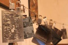 Négatifs photographiques à sécher Photographie stock