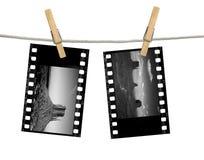 Négatifs sur film du monochrome 35mm de vallée de monument Photos stock