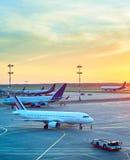 Négligence moderne d'aéroport Photographie stock