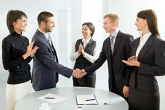 Négociations réussies Photos stock