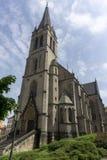 Néo- église gothique de saint Prokop, Prague images stock