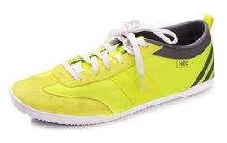 Néo- chaussures jaunes d'Adidas Images stock