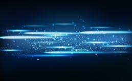 Néon claro abstrato que incandesce com partículas brilhantes, parte traseira sazonal ilustração stock