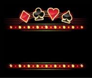 Néon com símbolos do cartão Imagens de Stock