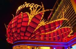 Néon d'hôtel de flamant, Las Vegas, Image stock