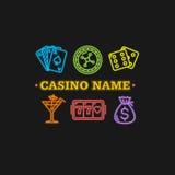 Néon de concept de casino Vecteur Illustration de Vecteur