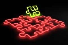 Néon de puzzle illustration de vecteur