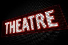 Néon de théâtre Image libre de droits