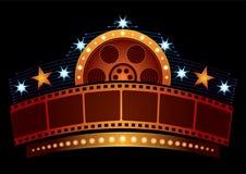 Néon do cinema Imagens de Stock Royalty Free