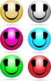 Néon do DJ do smiley Imagens de Stock Royalty Free