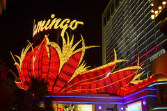 Néon do hotel do flamingo, Las Vegas, Imagem de Stock