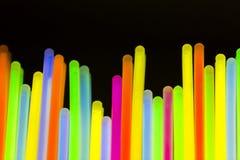 Néon fluorescent coloré de lumières Photographie stock libre de droits