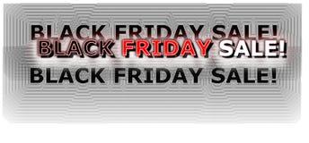 Néon numérique de bannière d'achats de Black Friday coloré en rouge et blanc Images libres de droits