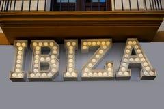 Néon retro de Ibiza fotos de stock