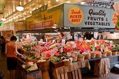 Néon Seattle do centro do mercado público Fotografia de Stock Royalty Free
