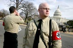 Néonazis au capitol des États-Unis Images stock