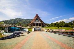Névoa branca da Buda em torno do vale Foto de Stock Royalty Free