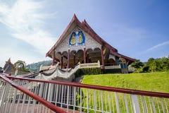 Névoa branca da Buda em torno do vale Imagem de Stock