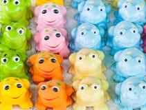Névoa colorida do brinquedo fotografia de stock