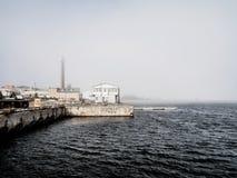 Névoa da mola sobre o mar Báltico 2 imagem de stock