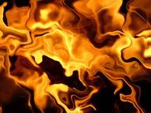 Névoa do incêndio Fotos de Stock Royalty Free