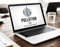 A névoa do perigo da névoa da emissão da poluição polui o conceito da poluição atmosférica fotos de stock