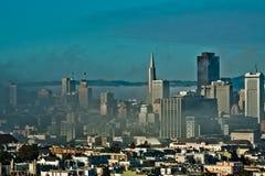 Névoa do verão em San Francisco Califórnia fotos de stock