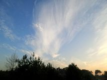 Névoa e nuvens Imagem de Stock