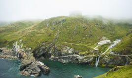 Névoa em Cornualha/Tintagel Fotos de Stock Royalty Free