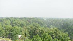 A névoa leva à cidade Center Philadelphfia Timelapse filme
