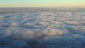 Névoa na área da baía, Califórnia do norte do nascer do sol e da manhã vídeos de arquivo