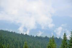 Névoa nas montanhas Imagem de Stock Royalty Free