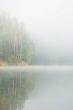 Névoa no lago Fotos de Stock