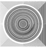 Set circular pattern mandala, vector abstract circular pattern protection against forgery. Black scale mandala on white background. Round stamp template stock illustration