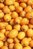 A nêspera frutifica mercado da textura do fundo do teste padrão Fotografia de Stock Royalty Free