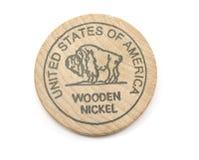 Níquel de madera del búfalo Imágenes de archivo libres de regalías