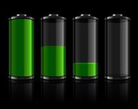 Níveis da bateria ajustados ilustração royalty free