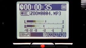 Níveis da gravação sonora video estoque