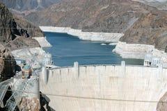 Níveis da seca da barragem Hoover em Nevada Fotos de Stock Royalty Free
