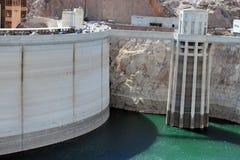 Níveis da seca da barragem Hoover em Nevada Imagens de Stock Royalty Free