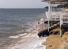Níveis de aumentação do mar Imagens de Stock
