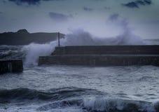 Níveis de aumentação do mar das alterações climáticas Fotografia de Stock Royalty Free