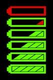 Nível da bateria Imagens de Stock